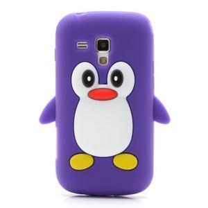 Silikonový obal tučniak pre Samsung Galaxy S Duos - fialový - 2