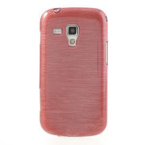 Broušený gélový kryt na Samsung Galaxy S Duos - růžový - 2