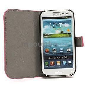 Peněženkové pouzdro na Samsung Galaxy S3 - rose - 2