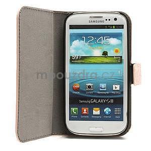 Peňaženkové puzdro pre Samsung Galaxy S3 - ružové - 2