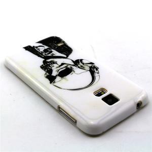 Luxury gélový obal pre mobil Samsung Galaxy S5 - lebka - 2