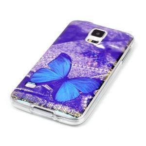 Blu-ray gelový obal s odlesky na Samsung Galaxy S5 - motýlek - 2
