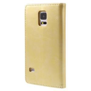 Bluemoon PU kožené puzdro pre Samsung Galaxy S5 - zlaté - 2