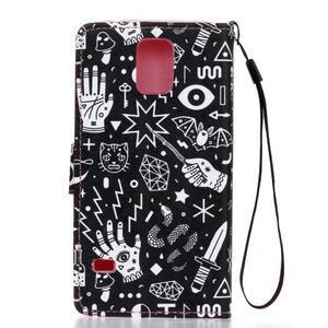 Knížkové PU kožené puzdro pre Samsung Galaxy S5 - - 2