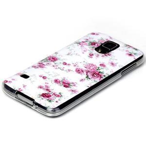 Rich gelový obal na Samsung Galaxy S5 - květiny - 2