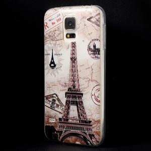 Ultratenký slim gelový obal na Samsung Galaxy S5 - Eiffelova věž - 2