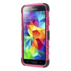 Outdoor odolný kryt pre mobil Samsung Galaxy S5 - rose - 2