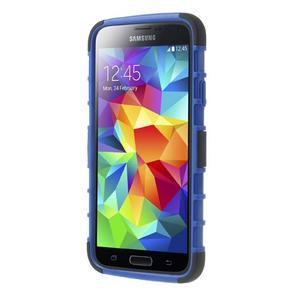 Outdoor odolný kryt pre mobil Samsung Galaxy S5 - modrý - 2