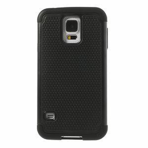 Odolný obal 2v1 pre mobil Samsung Galaxy S5 - čierný - 2