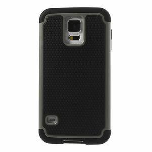 Odolný obal 2v1 pre mobil Samsung Galaxy S5 - šedý - 2