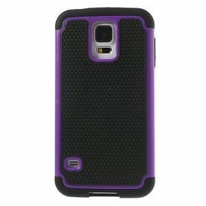 Odolný obal 2v1 na mobil Samsung Galaxy S5 - fialový - 2