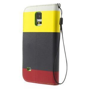 Colory PU kožené pouzdro na mobil Samsung Galaxy S5 - variant II - 2