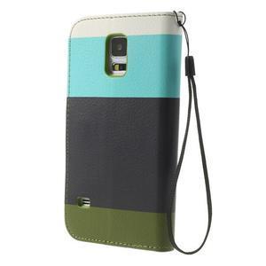 Colory PU kožené pouzdro na mobil Samsung Galaxy S5 - variant III - 2
