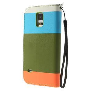 Colory PU kožené puzdro pre mobil Samsung Galaxy S5 - variant IV - 2