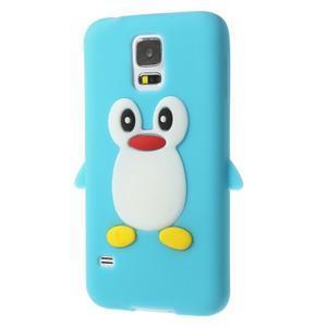 Penguin silikonový obal na Samsung Galaxy S5 - světlemodrý - 2
