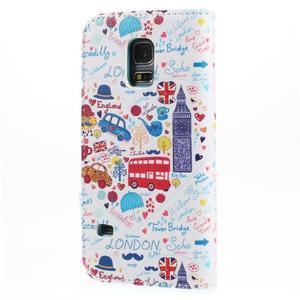 Emotive PU kožené puzdro pre Samsung Galaxy S5 mini - Londýn - 2