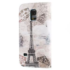 Emotive PU kožené puzdro pre Samsung Galaxy S5 mini - Eiffelova veža - 2