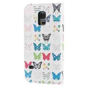Emotive PU kožené puzdro pre Samsung Galaxy S5 mini - motýle - 2