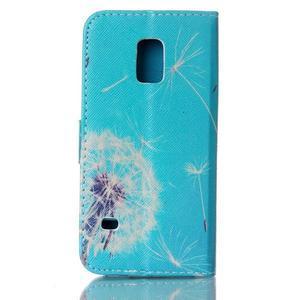 Stand peňaženkové puzdro pre Samsung Galaxy S5 mini - odkvetlá púpava - 2