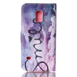 Stand peňaženkové puzdro pre Samsung Galaxy S5 mini - smile - 2