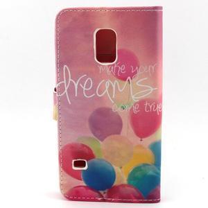 Peňaženkové puzdro pre mobil Samsung Galaxy S5 mini - balónky - 2