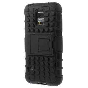 Outdoor odolný obal pre mobil Samsung Galaxy S5 mini - čierný - 2
