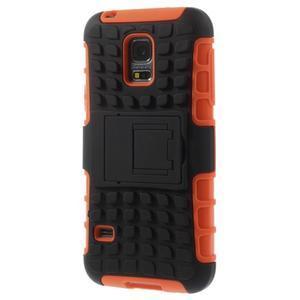 Outdoor odolný obal pre mobil Samsung Galaxy S5 mini - oranžový - 2