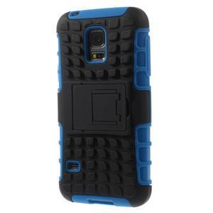 Outdoor odolný obal pre mobil Samsung Galaxy S5 mini - modrý - 2