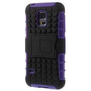 Outdoor odolný obal pre mobil Samsung Galaxy S5 mini - fialový - 2