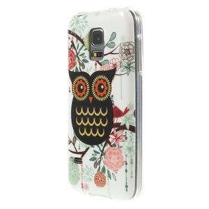 Owls gélový obal pre Samsung Galaxy S5 mini - paní sova - 2