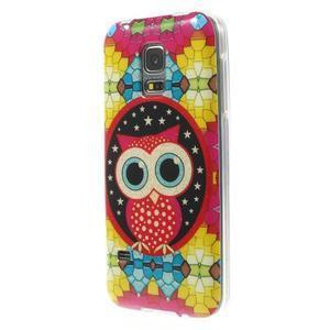 Owls gelový obal na Samsung Galaxy S5 mini - sovička - 2
