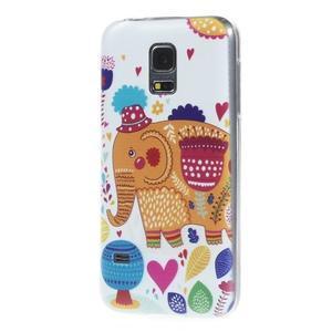 Ultratenký obal pre mobil Samsung Galaxy S5 mini - slon - 2