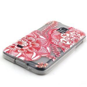 Transparentný gélový obal pre mobil Samsung Galaxy S5 mini - mandala - 2