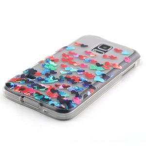 Transparentní gelový obal na mobil Samsung Galaxy S5 mini - srdíčka - 2