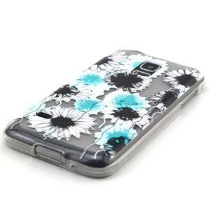 Transparentný gélový obal pre mobil Samsung Galaxy S5 mini - sedmikrásky - 2