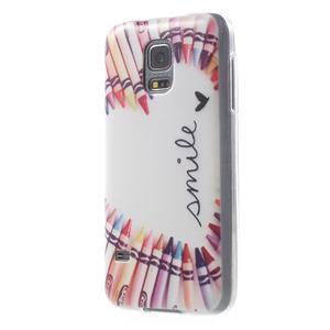 Gélový kryt pre mobil Samsung Galaxy S5 mini - smile - 2