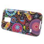 Softy gélový obal pre Samsung Galaxy S5 mini - farebné kruhy - 2/5