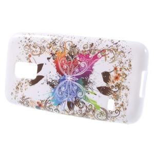 Softy gélový obal pre Samsung Galaxy S5 mini - farebný motýl - 2