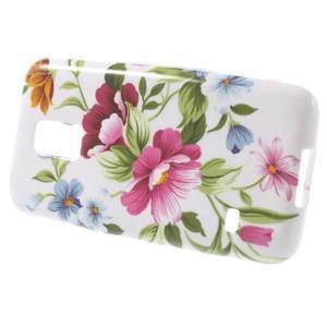 Softy gelový obal na Samsung Galaxy S5 mini - květiny - 2