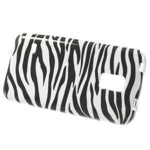 Softy gélový obal pre Samsung Galaxy S5 mini - zebra - 2