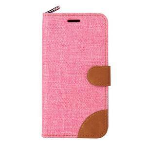 Jeans pouzdro na mobil Sony Xperia E4 - růžové - 2