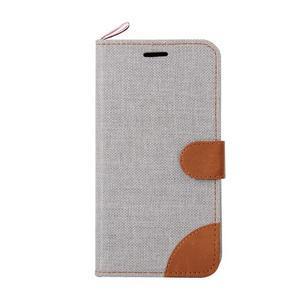 Jeans puzdro pre mobil Sony Xperia E4 - sivé - 2