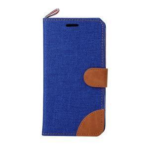Jeans puzdro pre mobil Sony Xperia E4 - modré - 2