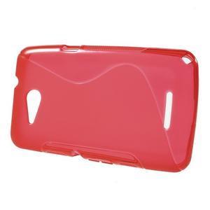 S-line gélový obal pre Sony Xperia E4g -  červený - 2