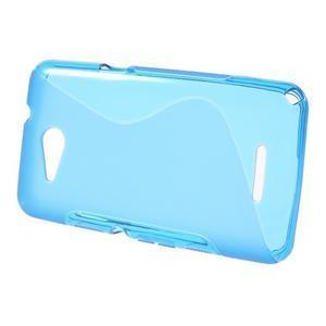 S-line gélový obal pre Sony Xperia E4g -  modrý - 2