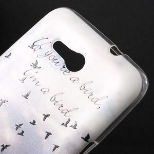 Gélový obal na Sony Xperia E4g - lietajúce vtáčiky - 2