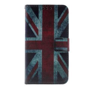 Peňaženkové puzdro na Sony Xperia E4g - UK vlajka - 2