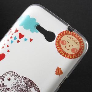 Gélový obal na Sony Xperia E4g - zamilovaný slon - 2