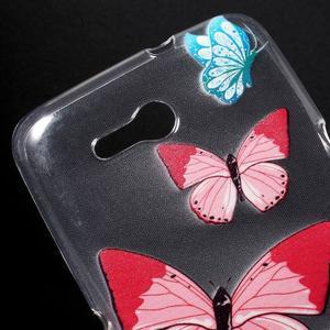 Gélový obal pre Sony Xperia E4g -  motýľikové - 2