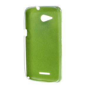 Gélový obal pre Sony Xperia E4g s koženkovým chrbtom - zelený - 2